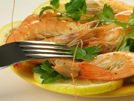 seafish: Seafish with lemon and parsley