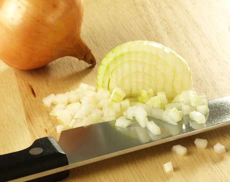 Chopped onion on cutting board Stock Photo - 13035106