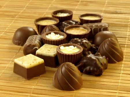 marzipan: Various delicious chocolate bonbons
