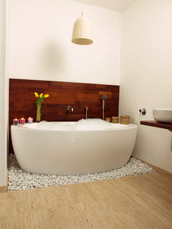 Luxury modern bathroom with original design Stock Photo - 13193375