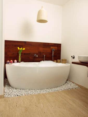 Luxury modern bathroom with original design photo