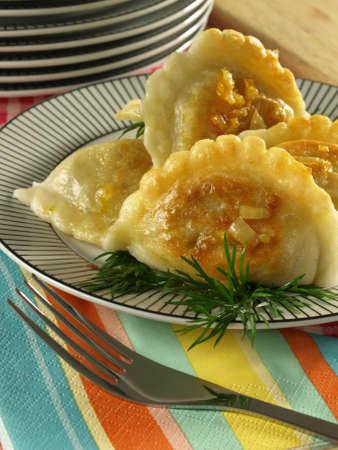pierogi: Appetizing original pierogi from Poland Stock Photo