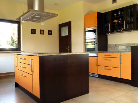 New and modern kitchen with spacious inter    Stock Photo - 13871881