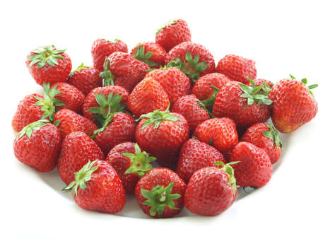 Bowl of strawberries on isolated white background Stock Photo - 14091848