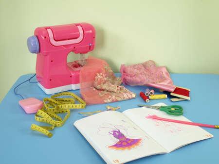 Pink workshop for a young dressmaker photo