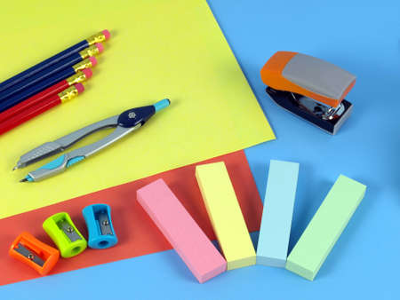 Colorful office equipment for a children, closeup  Stock Photo - 14600866