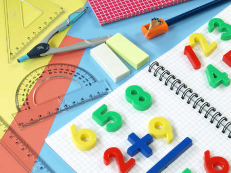 First steps in math education,children Stock Photo - 14600941