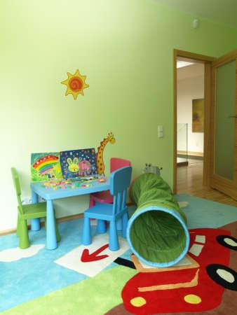 drawing room: Children room Stock Photo