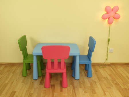Modern colorful furniture in a children photo