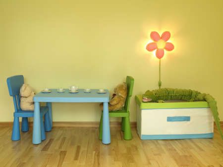 Party for toys in children room Stock Photo - 14608993