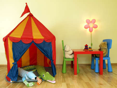 Party for toys in a children's room Stock Photo - 14677890