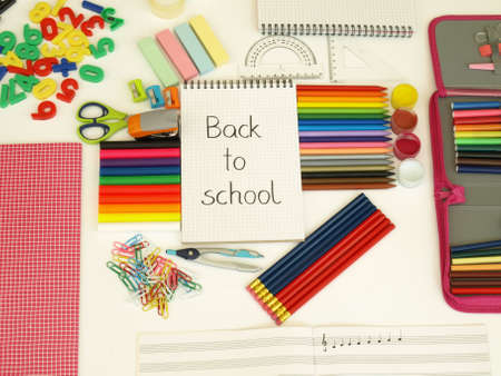 Back to school- new colorful accessories for child photo