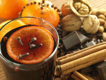 redwine: Wine with aromatic cloves, orange and cinnamon