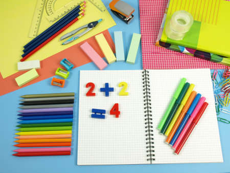Colorful accessories for a perfect school set Stock Photo - 14974535