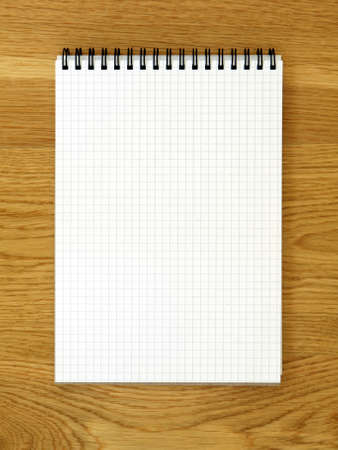 block note: Empty notebook for schedule or to-do list