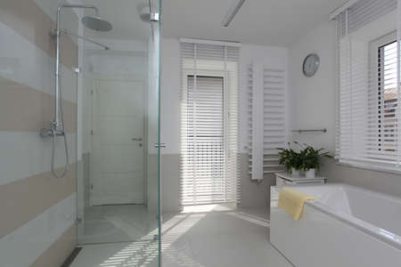 well equipped: New bathroom in contemporary and stylish house