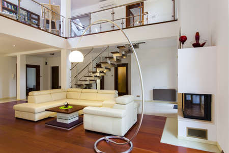 apartment: Interior of the big and modern designers house