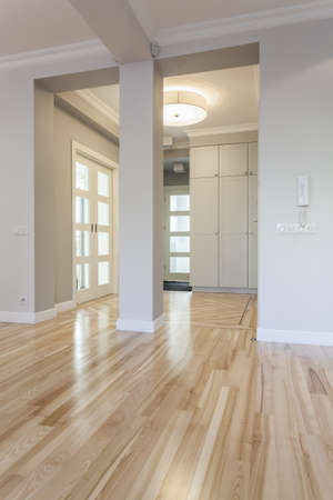 Interior of a stylish new house, hallway photo