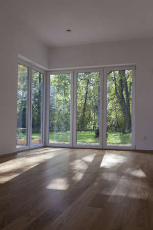 spacious: Windows and door with overlooking to garden