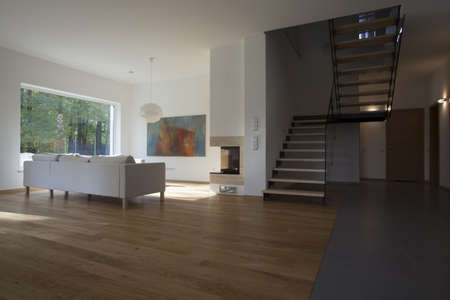 Interior of modern house with spacious living room Stock Photo - 16164871