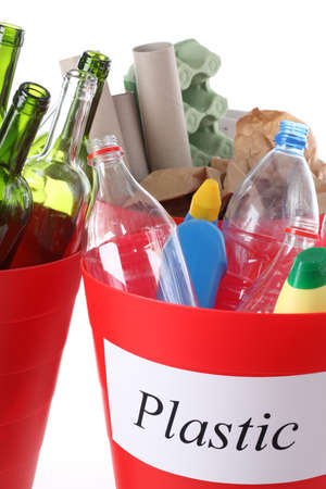 Closeup of recycle bin with plastic garbage Stock Photo - 16250995