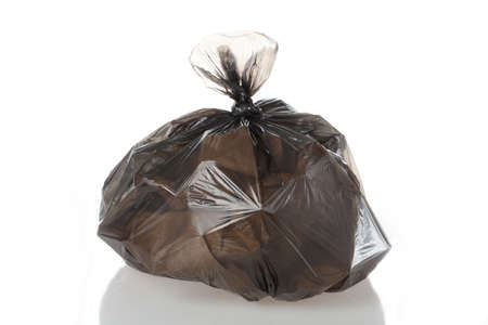 Plastic bag full of rubbish on isolated white background Stock Photo - 16302961