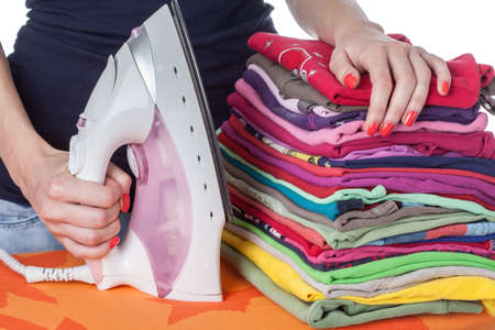 domestic task: Housewife and the domestic program activities Stock Photo