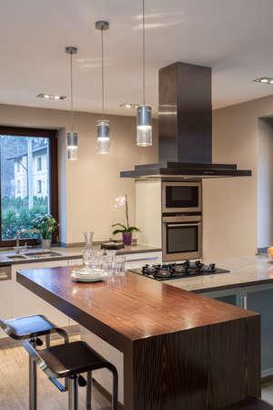Travertine house - close up of a modern kitchen interior Stock Photo - 16841896
