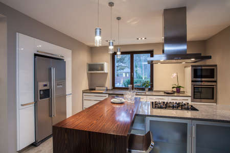 Travertine house - creative solutions for your spacious kitchen Stock Photo - 16841899