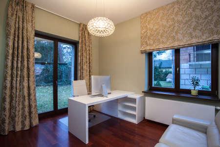 Travertine house - modern interior home office Stock Photo - 16841891