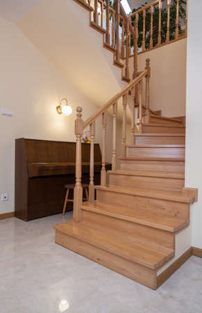 Closeup of staircase in a traditional interior Stock Photo - 16964612