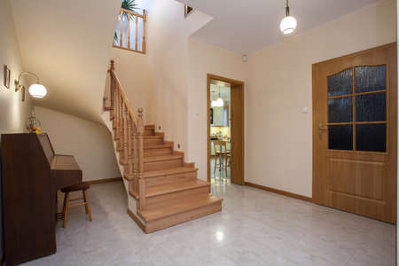 Horizontal view of corridor in traditional house  Stock Photo - 16964633