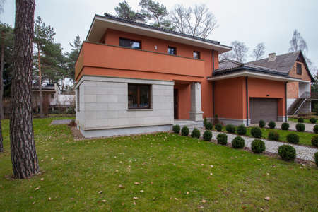 contemporaneous: Travertine house - view of contemporary house