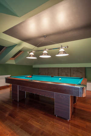 Travertine house - modern attic with gameplace photo