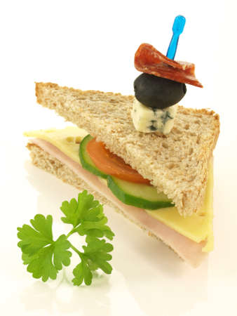 Half of sandwich and leaf of parsley Stock Photo - 17090827
