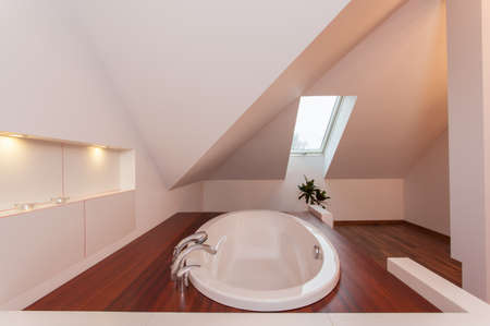 ruby house: Ruby house - Drop in bath in bathroom in the attic