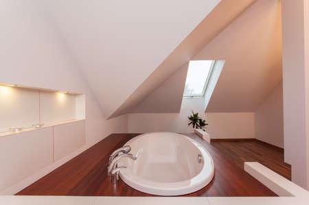 ruby house: Ruby house - Drop in bath in bathroom in the attic