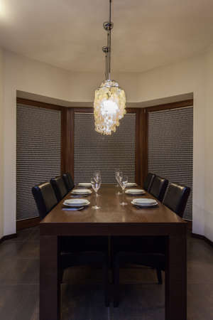 ruby house: Ruby house - Table set in contemporary dining room