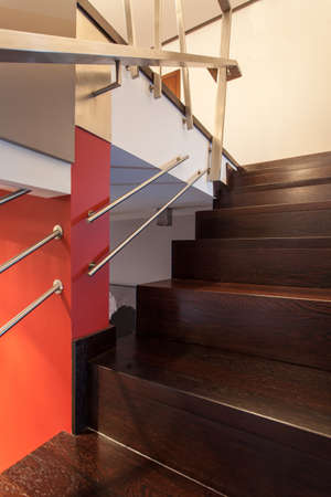 ruby house: Ruby house - Close up of modern and elegant stairs