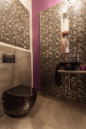 ruby house: Ruby house - Interior of modern and elegant toilet