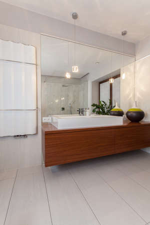 ruby house: Ruby house - modern and rectangular vessel basin Stock Photo