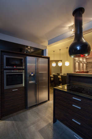 ruby house: Ruby house - kitchen interior and modern appliances Stock Photo