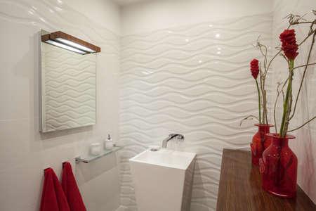 Cloudy home - contemporary bathroom with original vessel basin Stock Photo - 17220937