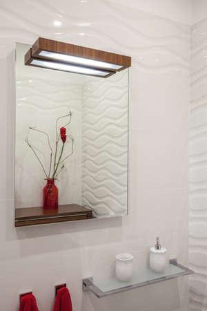 cloudy home: Cloudy home - mirror in modern bathroom interior