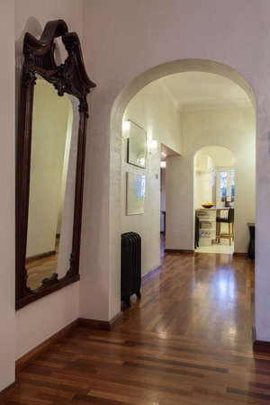 Cloudy home - Huge mirror in a vintage style, hallway photo