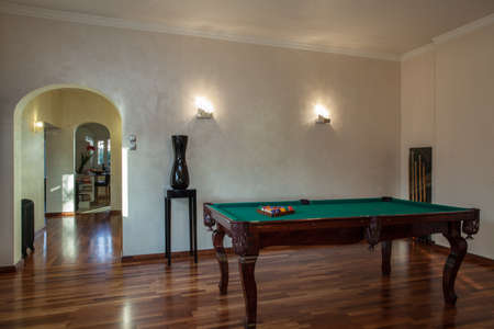 Cloudy home - Place for pastime- table for billiard Stock Photo - 17317922