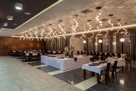Woodland hotel - Elegant restaurant in a hotel Stock Photo - 17495262