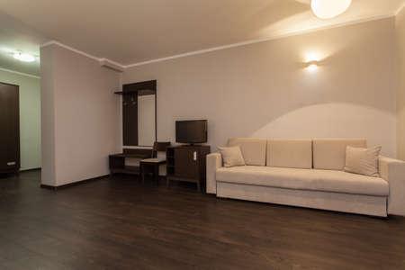 Woodland hotel - Interior of hotel room wiht bright sofa Stock Photo - 17495255