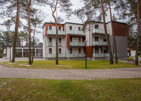 Woodland hotel - Modern luxurious apartments in forest Stock Photo - 17502526