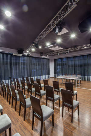 Woodland hotel - Interior of conference room with sittings Stock Photo - 17503581